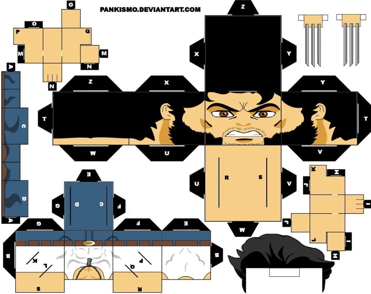 Marvel En Cubeecraft Taringa Paper Toys Paper Toy Printable Paper Dolls