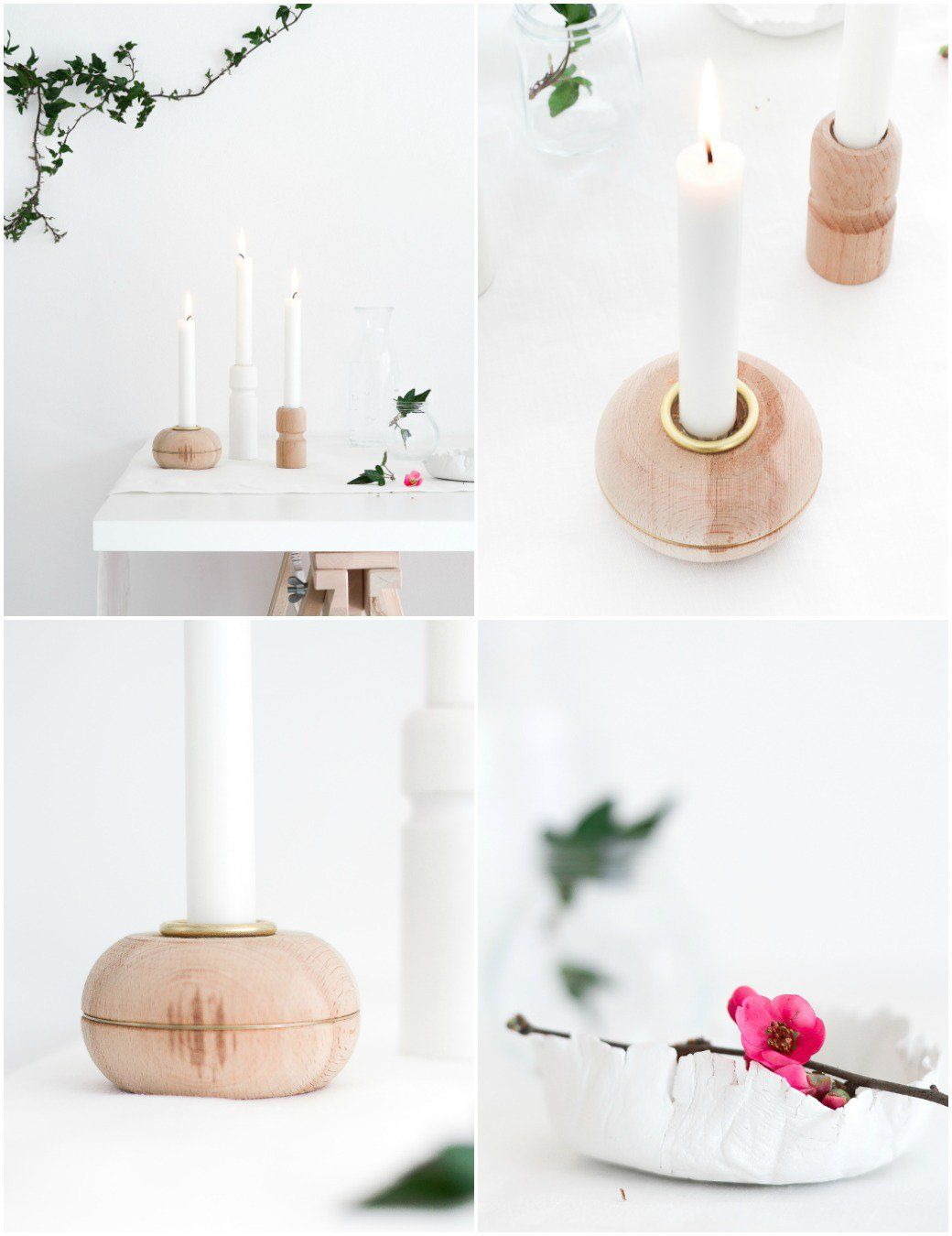 DIY Candle Holders From Furniture Legs