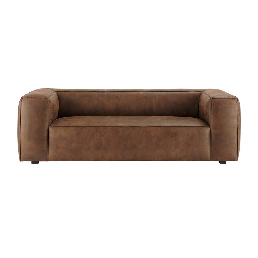 Best 3 Seater Imitation Suede Sofa In Brown Sofa Suede Sofa 400 x 300