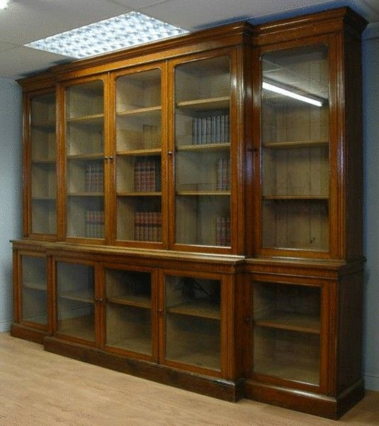 vintage library bookcase | 11ft Huge Victorian Oak Antique Library Bookcase  - OnlineGalleries.com · Bookcase With Glass DoorsAntique ... - Vintage Library Bookcase 11ft Huge Victorian Oak Antique Library