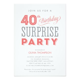 Free FREE Template Free Surprise Birthday Party Invitations Baby