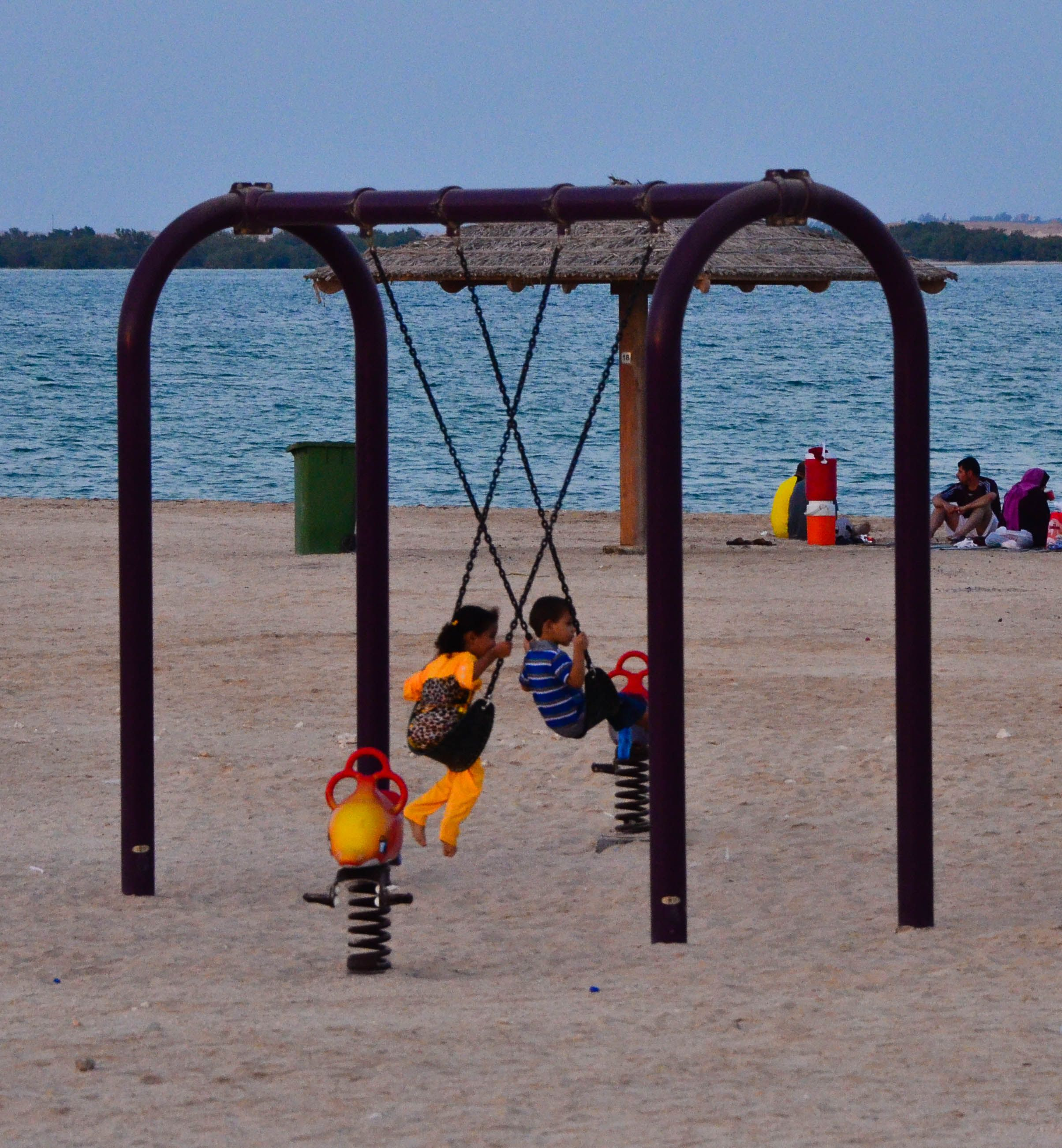 In fakreh coast, qatar.. Kids at play