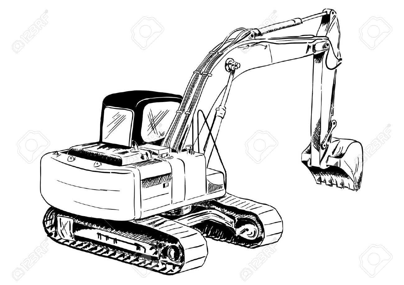 digger drawings outline Google Search Tank drawing