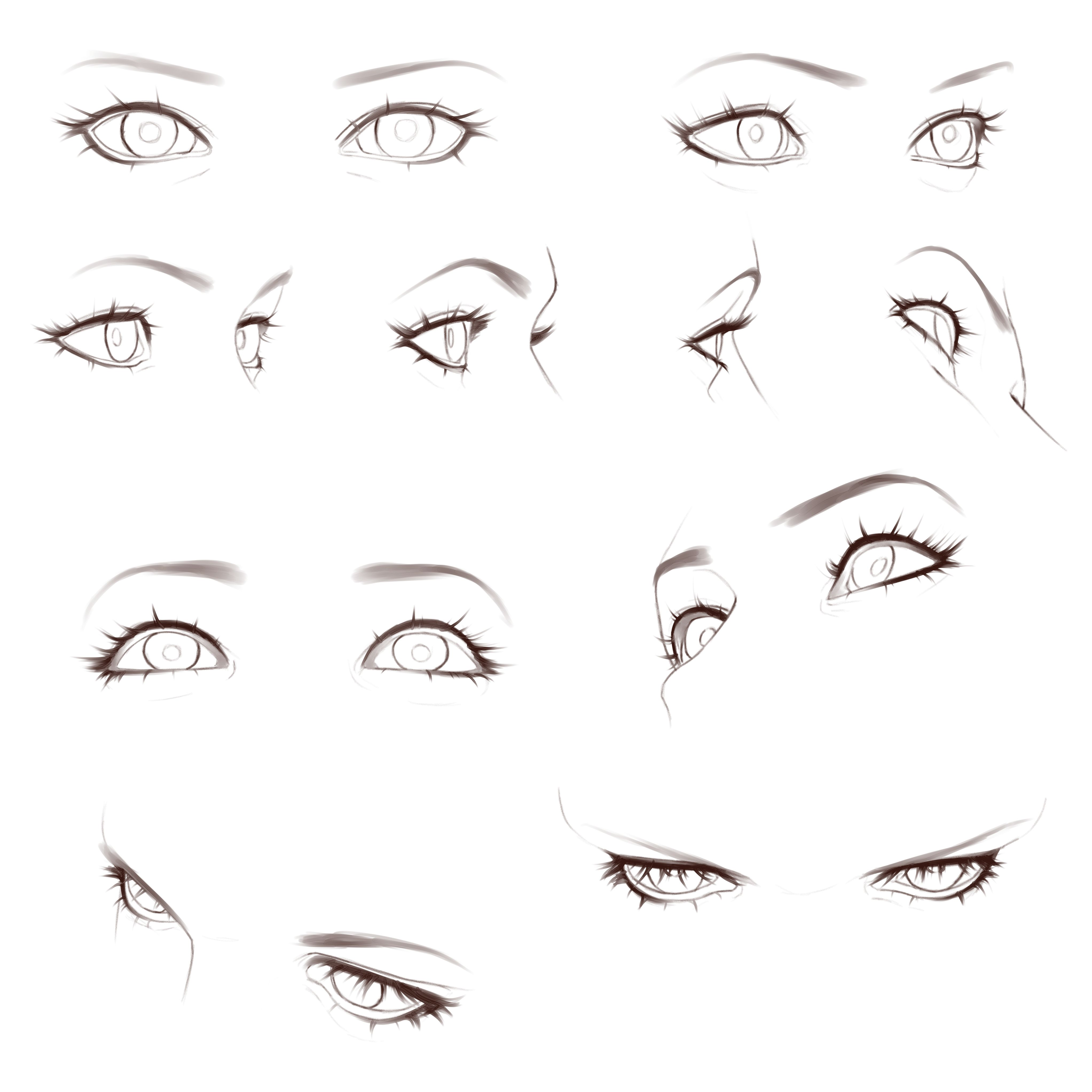 Guide To Rendering Expressive Eyes By Wajiha Clip Studio Tips In 2020 Anime Eye Drawing Eye Drawing Tutorials How To Draw Anime Eyes