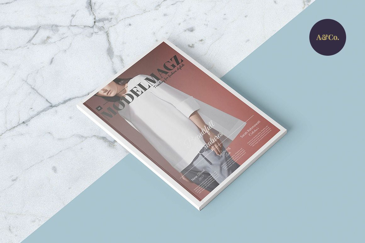Modelmagz Magazine ~ Magazine Templates on Creative Market | b o o k ...