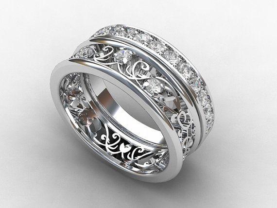 Champagne Sapphire Ring Peach Sapphire Ring Peach Sapphire