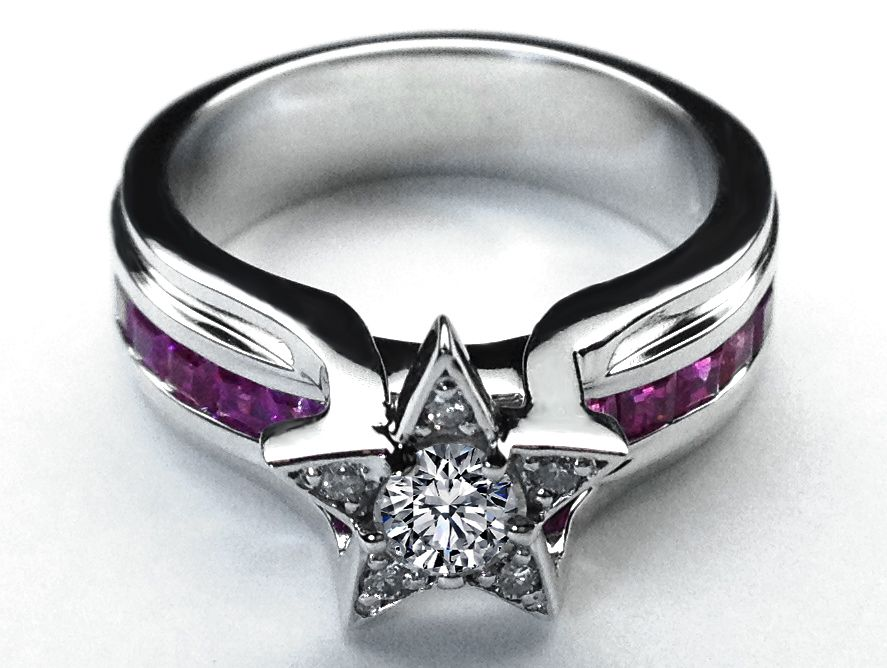 Rock star wedding rings