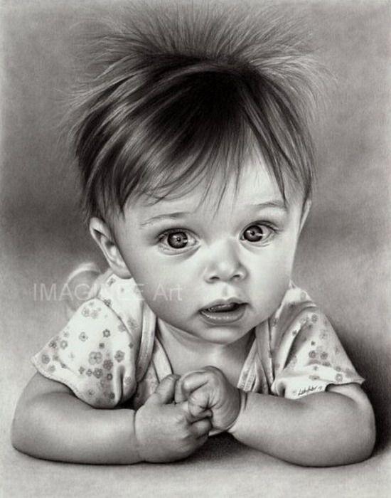 Dibujos Rostros Bebes A Lapiz 3 Jpg 550 700 Kids Portraits Portrait Drawing Drawings