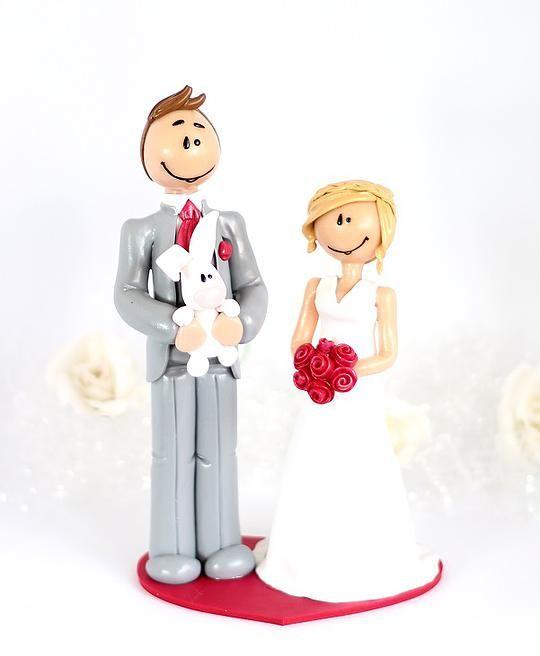 Figurines de mariage cake toppers personnalisés little mandarine