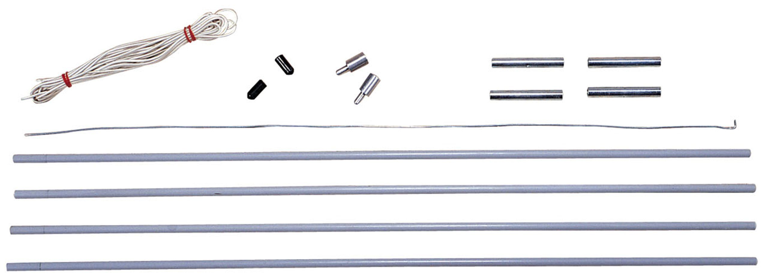 Stansport Pole Replacement Kit for Family Tents, 11mm. Includes shock cord. Installation wire. Stansport provides camping products that are best for your needs and can help to make your next camping trip the best yet. Four poles and ferrules. Fits most dome tents. Two pole styles.