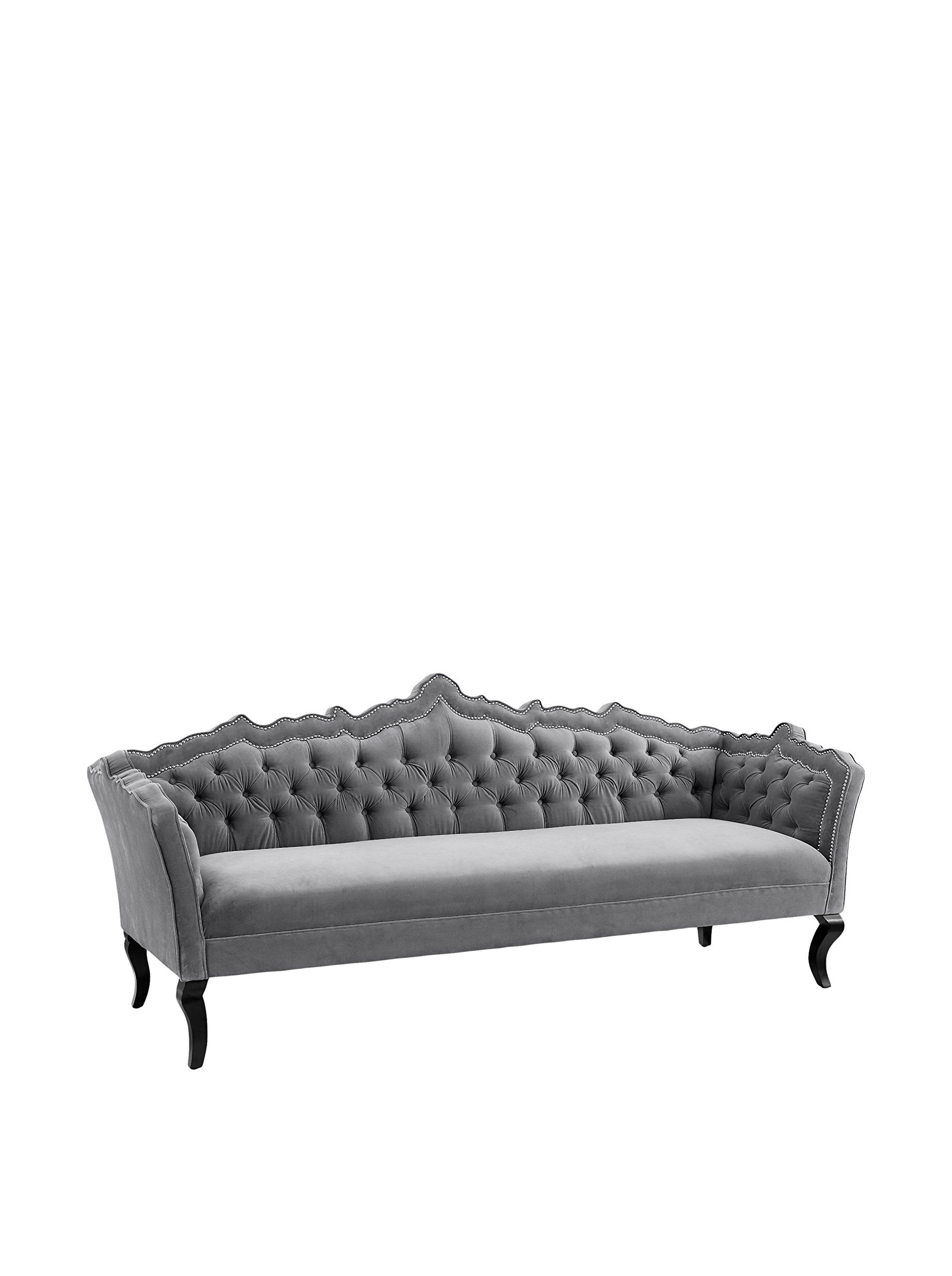 TOV Furniture Brooks Velvet Sofa Grey at MYHABIT