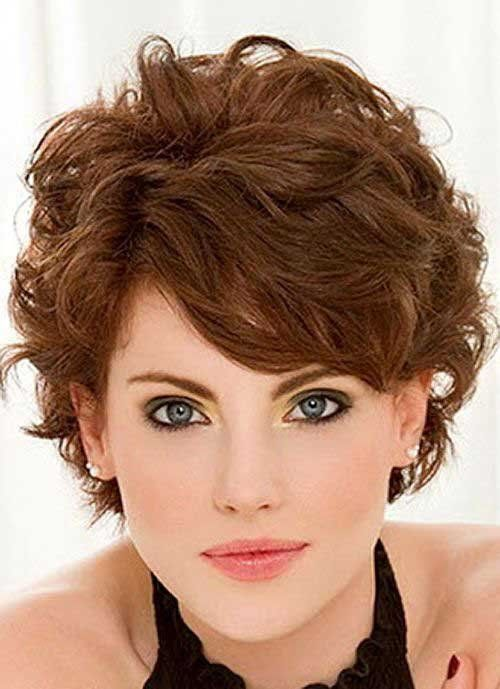 Short Haircut For Thick Wavy Hair Side View Fashion Ce Short Curly Hairstyles For Women Short Hair Styles Fine Curly Hair