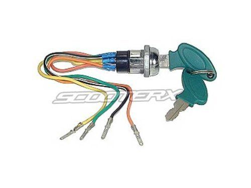 scooterx 4 wire ignition switch key fits many gas and electric scooterx 4 wire ignition switchkey fits many gas and electric scooters go karts pocket bikes and more the image link more details