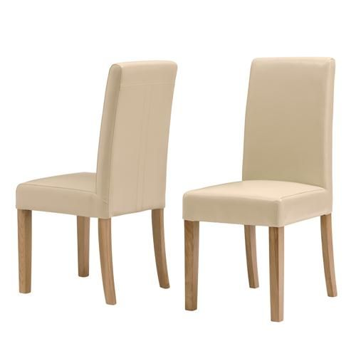 Milano Cream Bonded Leather Dining Chair including free delivery