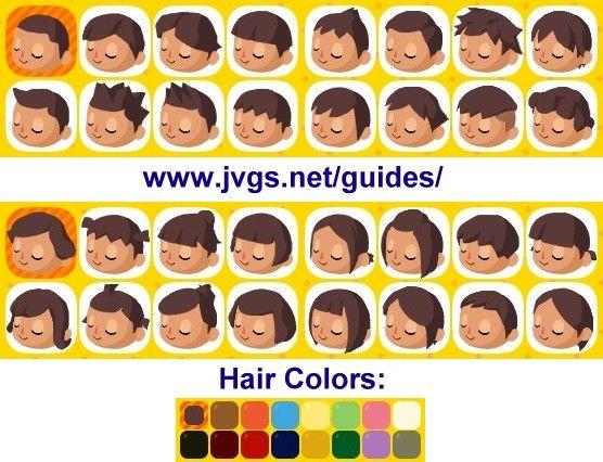 Ac Hhd Hair Choices With Images Animal Crossing Hair Hair