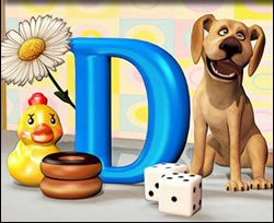 Letter 'D' Online Jigsaw Puzzle for Kids. A fun way to learn the