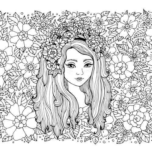 Flower Girl Coloring Page | Coloring Pages (Everything) | Pinterest ...
