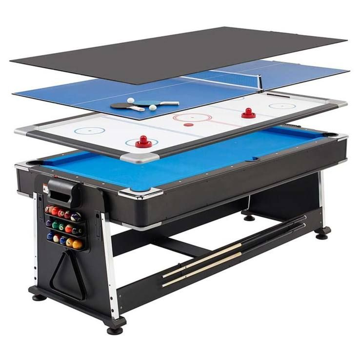 MightyMast Leisure Revolver 7ft 3-in-1 Multigames Table In