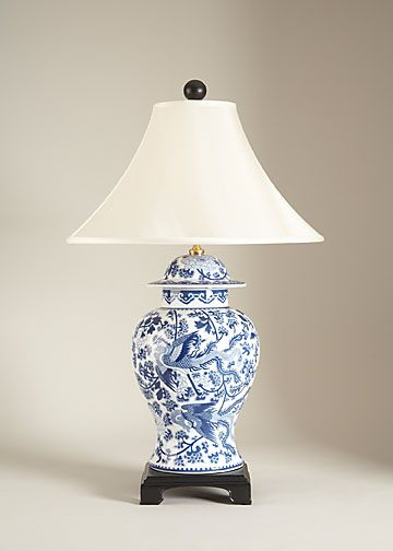 A Ginger Jar Made Into A Lamp Is A Ginger Jar With A Real Job Jar Table Lamp Blue And White Lamp Lamp