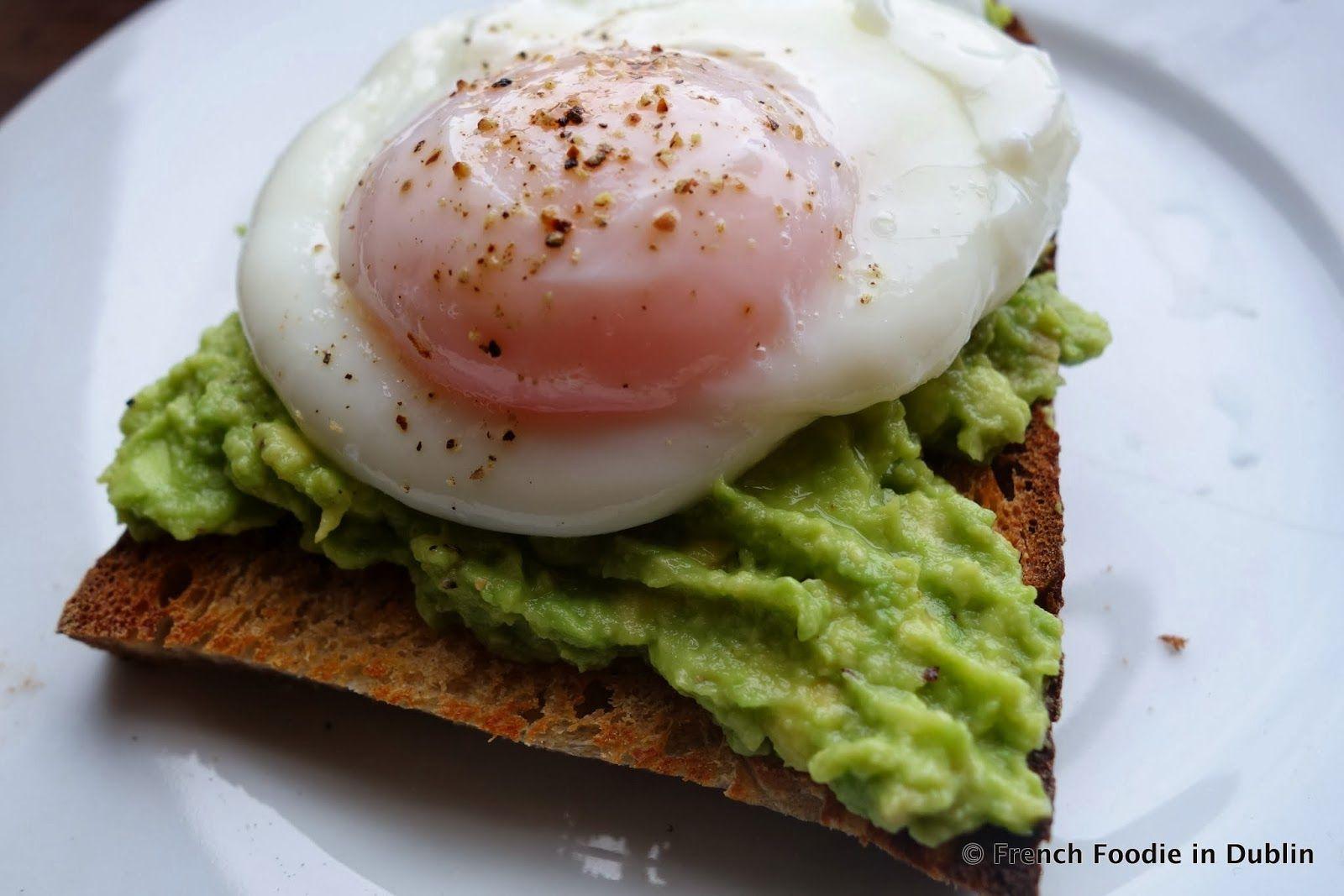 Brunch Idea Egg and Avocado on toast Irish recipes