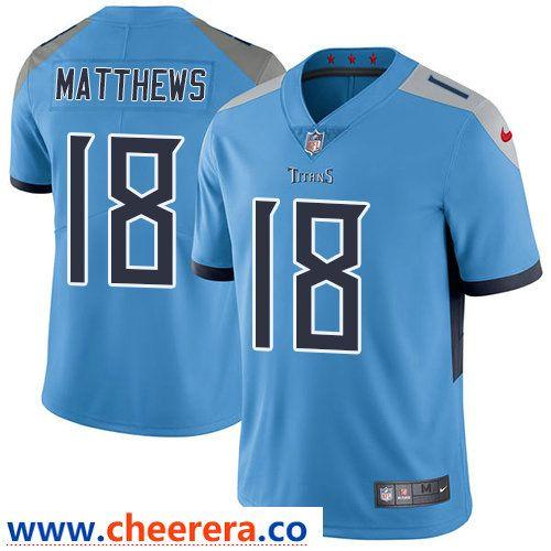 1a660b9462e Nike Tennessee Titans  18 Rishard Matthews Light Blue Team Color Men s  Stitched NFL Vapor Untouchable Limited Jersey