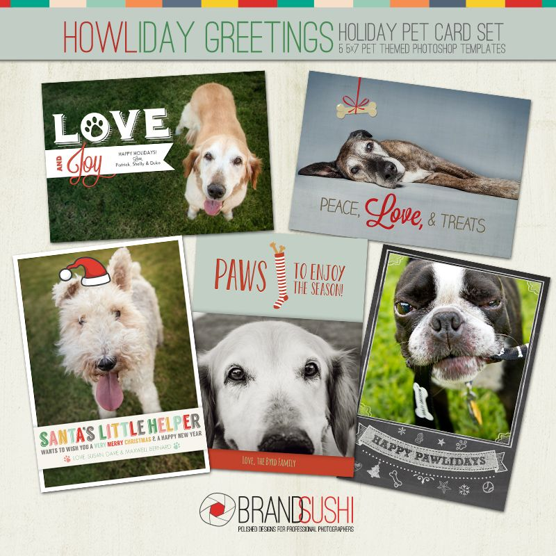 Holiday Card Collection – HOWLiday Greetings | .design | Pinterest ...