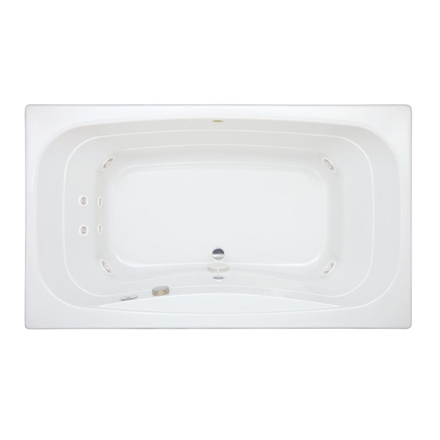 Shop Jacuzzi 72-in L x 42-in W x 22-in H Signa 2-Person White ...