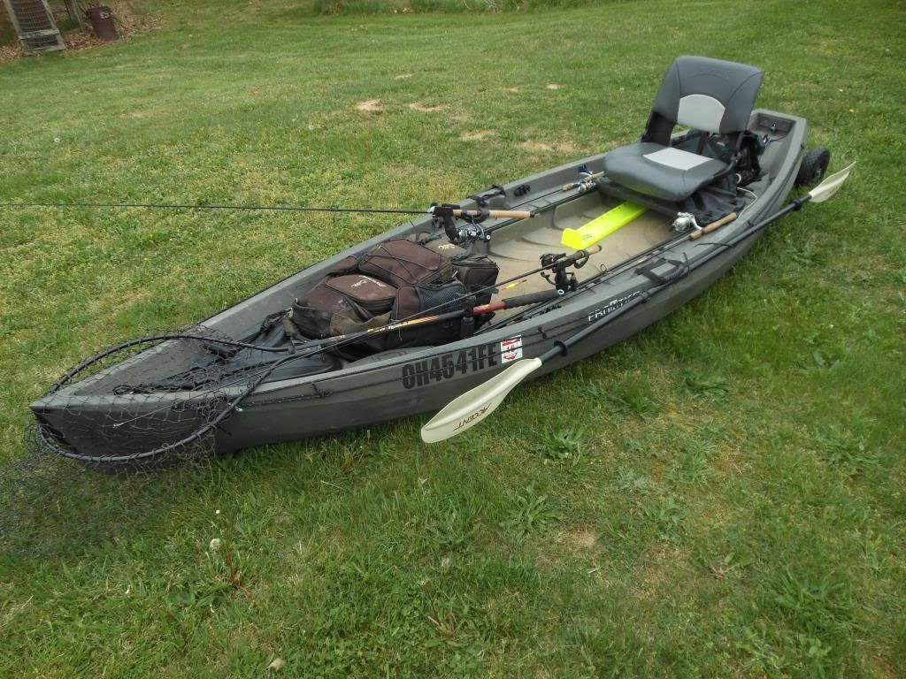 Pvc pipe boat since getting my nucanoe frontier in march for Fishing kayak sale