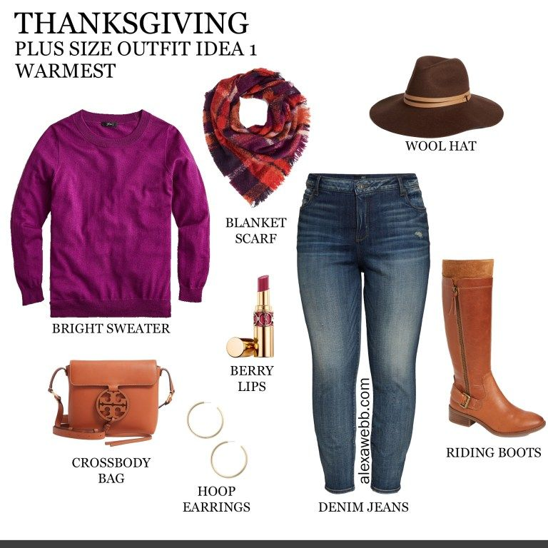 2019 Plus Size Thanksgiving Outfits - Part 1 #thanksgivingoutfit