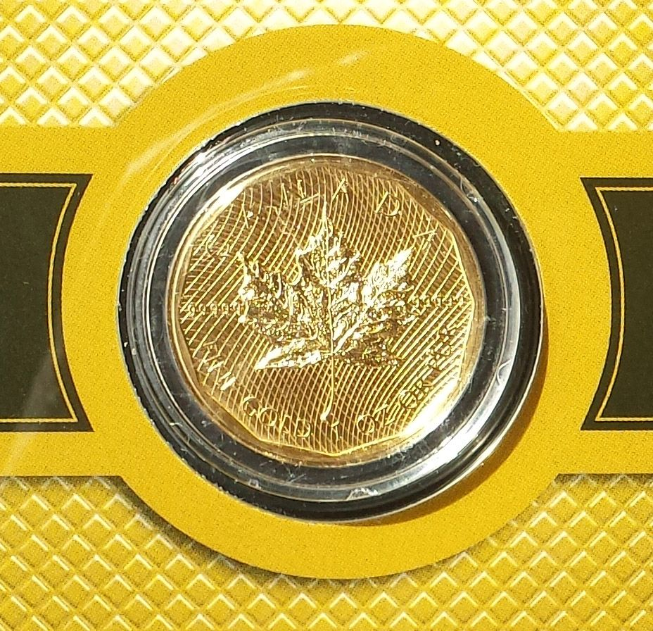 Royal Canadian Mint Fine 1 Oz Five 9s Gold Maple Leaf