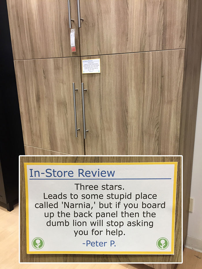 Guy Trolls Ikea By Putting Fake In Store Reviews All Over The Place Funny Tumblr Funny Hilarious