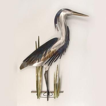 Blue Heron Outdoor Wall Sculptures Frontgate Copper Art Blue Heron Wall Sculptures