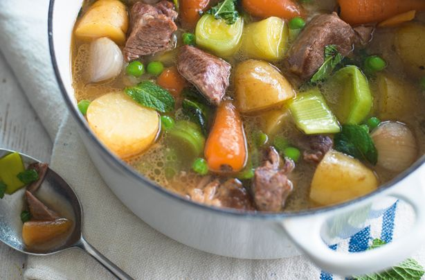 Slow Cooked Spring Lamb Stew Recipe Lamb Stew Slow Cooker Recipes Food Recipes