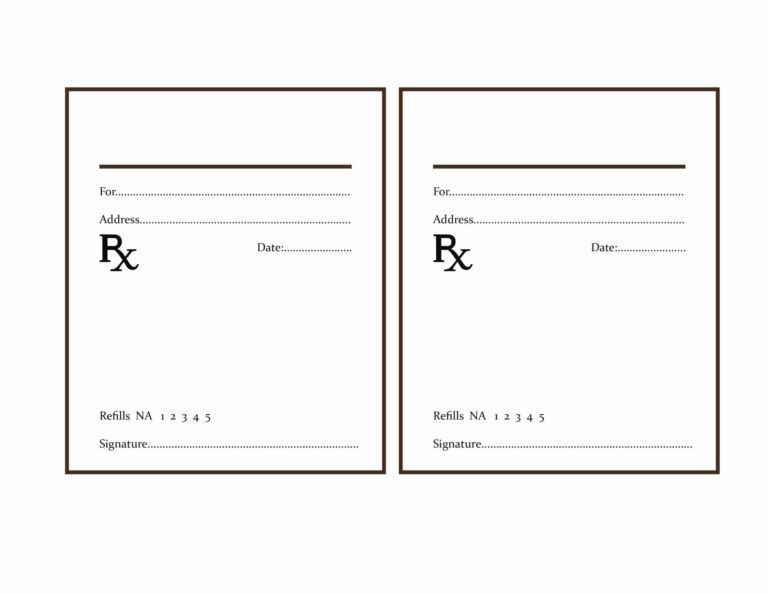 Fake Prescription Pad Mahre Horizonconsulting Co With Blank Prescription Pad Template Label Templates Prescription Pad Printable Label Templates