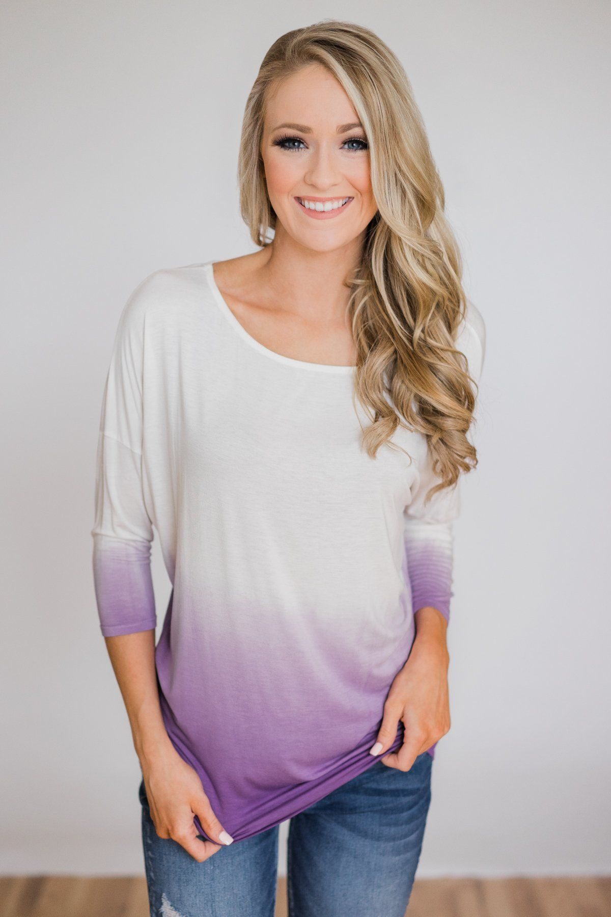 0fb51f236525 Pretty in a Purple Ombré Long Sleeve Top   Tunics/tops/jumpers ...