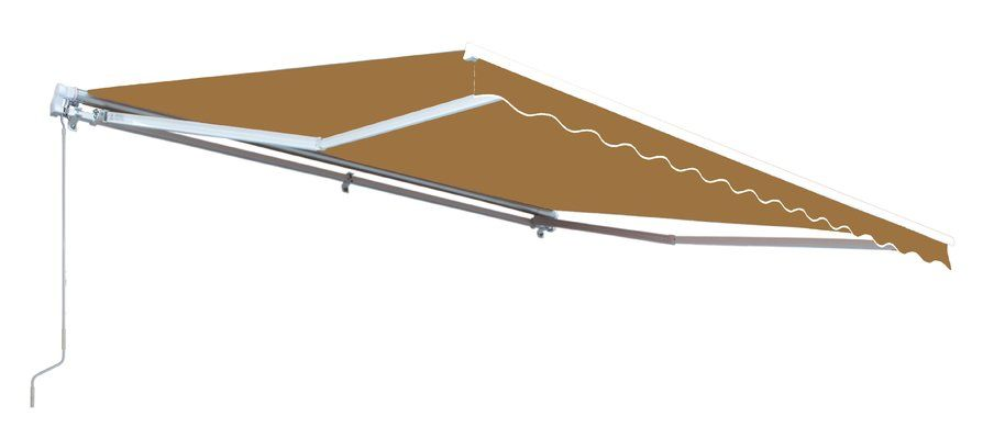 10 Ft W X 8 Ft D Fabric Retractable Standard Patio Awning Patio Awning Outdoor Shade Custom Awnings