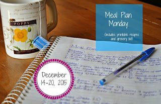 Darcie's Dishes: Meal Plan Monday: 12/14-12/20/15   A one week meal plan complete with all meals, drinks and snacks to help you successfully follow the Trim Healthy Mama style of eating. The meal plan is printable and has a printable shopping list as well.