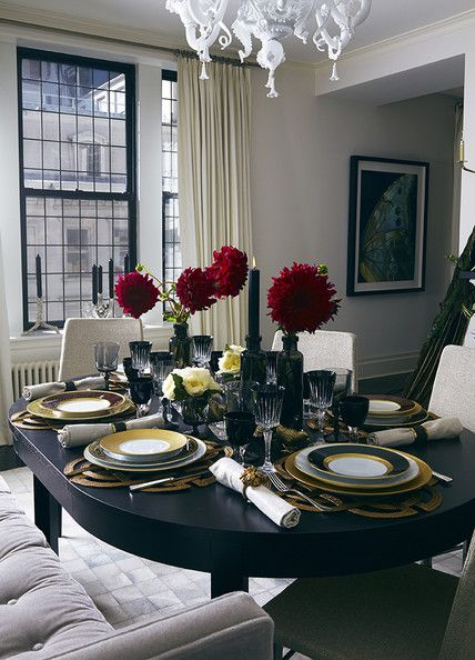 Tablescape - A festive dining table designed by Jung Lee
