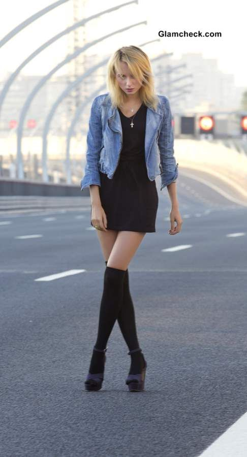 1000  images about Black Dress on Pinterest | Denim jackets Sexy