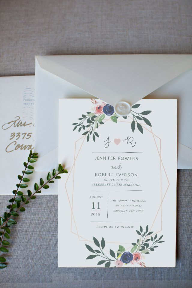 The Coolest Watercolor Wedding Invitations of Different Styles ...