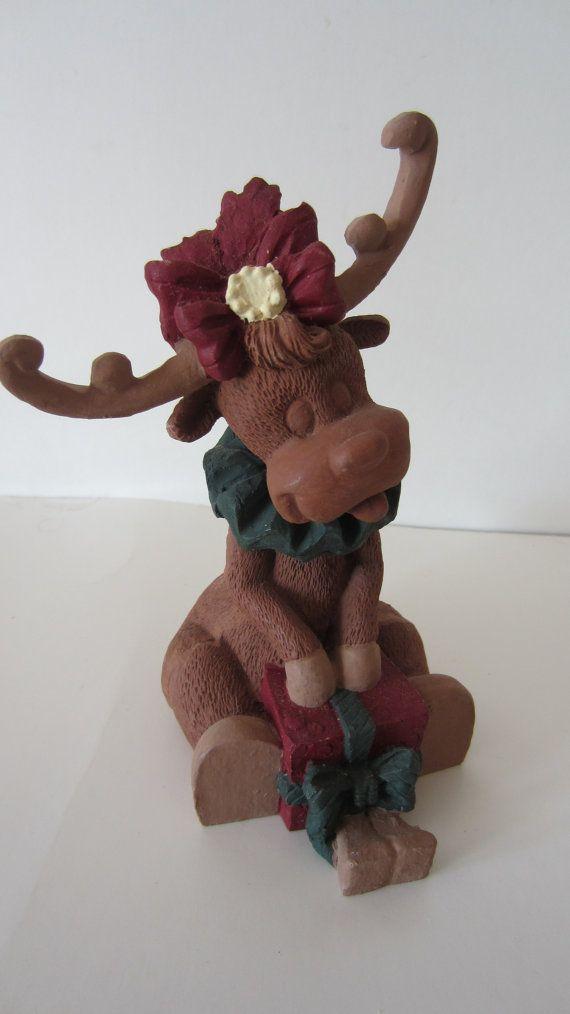 Pecan Resin Reindeer Shelf Sitter by shoreantiques on Etsy, $10.00