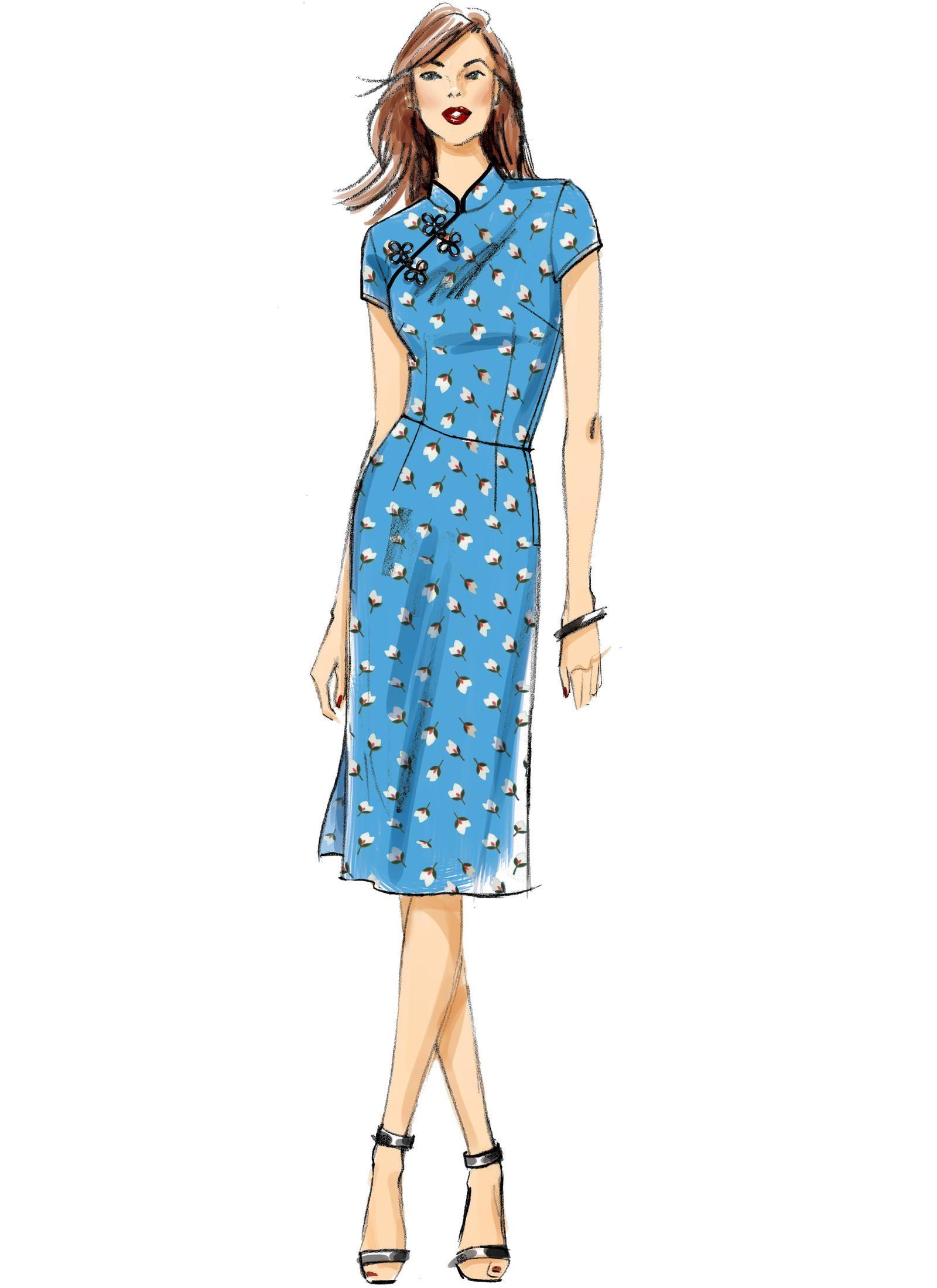 B6483 | Butterick Patterns | Costumes | Pinterest | Mandarin collar ...