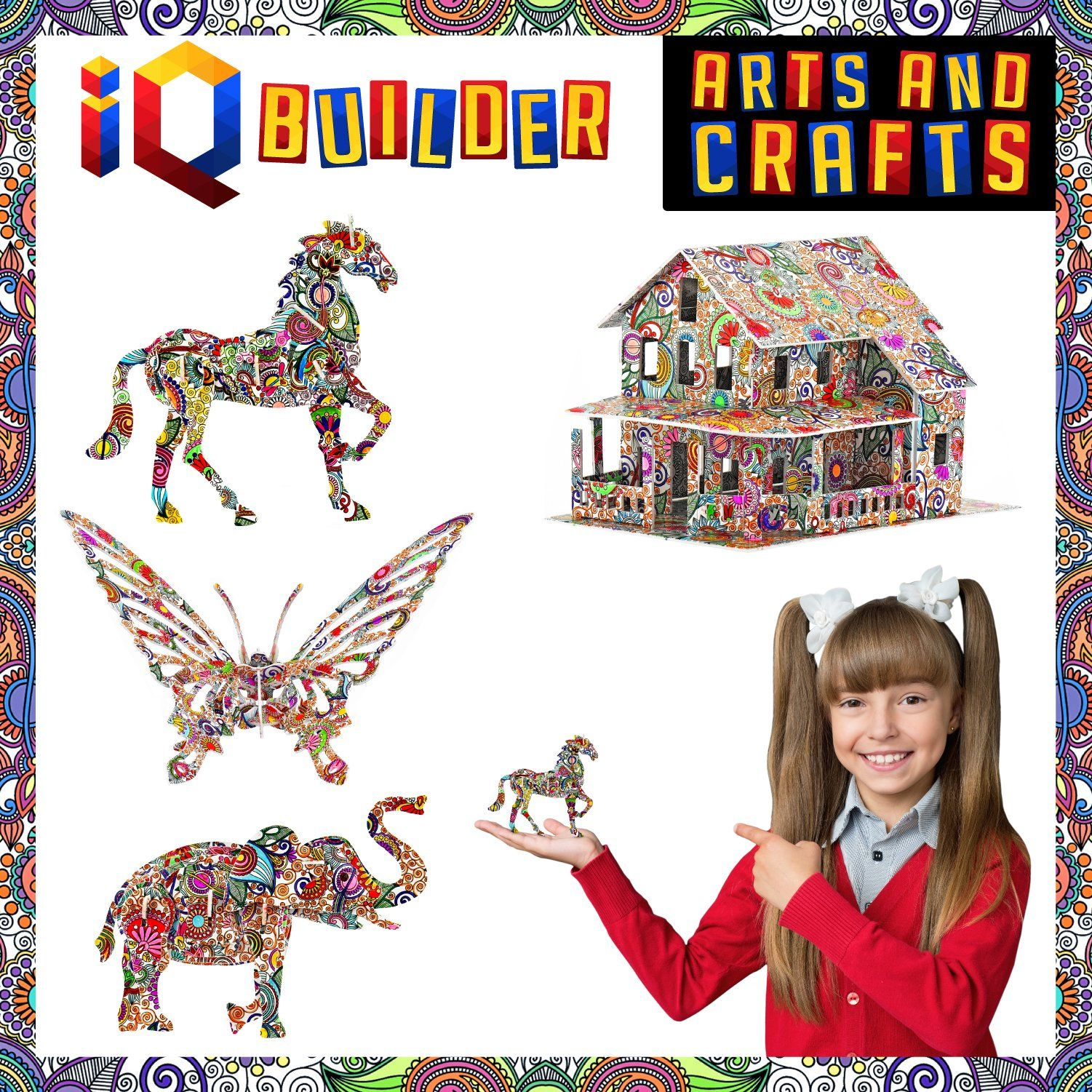 IQ BUILDER ARTS AND CRAFTS FOR GIRLS AGE 7 8 9 10 11 12 YEAR OLD AND