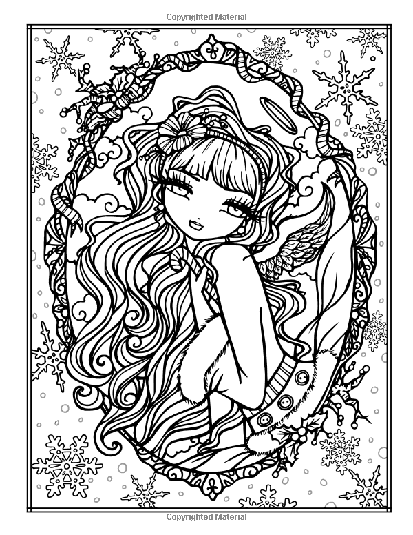 AmazonSmile: A Whimsy Girls Christmas Coloring Book: Festive Girls ...