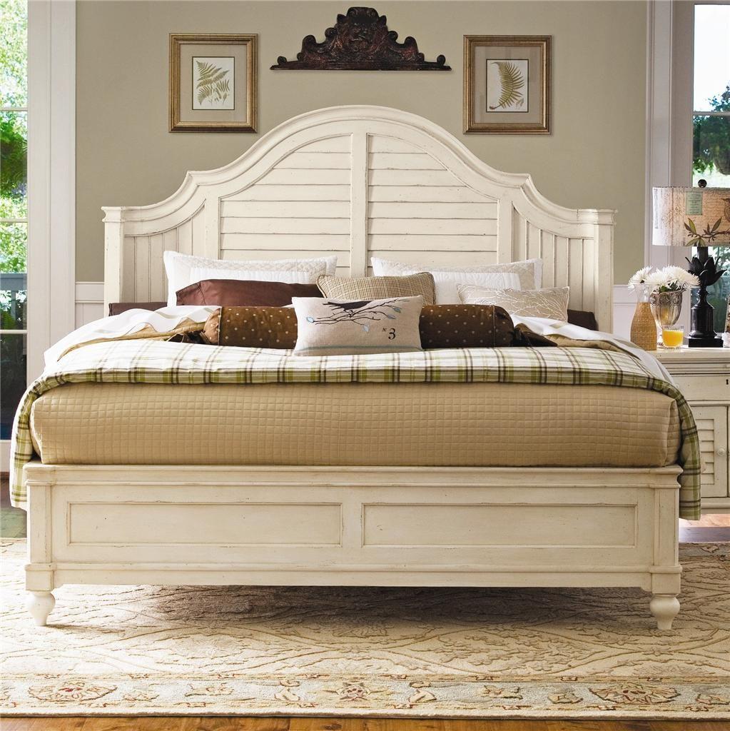 paula deen queen magnolia panel bed platform distressed finish