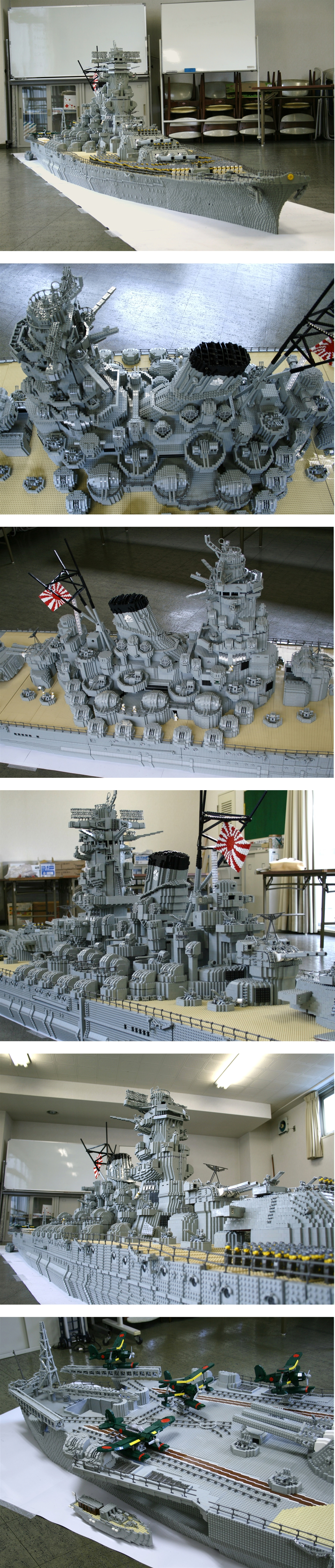 lego IJN Yamato, IRL this ship was the biggest in the world, but someone has built a bigger lego ship than this.