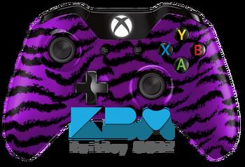 Purple Tiger Camo Xbox One Controller - KwikBoy Modz  #customcontroller #customXboxOneController #XboxOne #XboxOneController #tigercamo #gaming #gamer #gamergirl