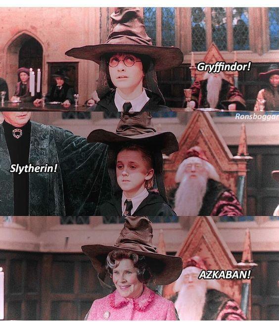 The Right Place For Dolores Umbridge Harry Potter Engracado Fatos De Harry Potter Piadas Do Harry Potter