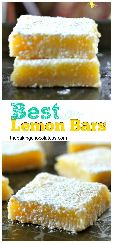 Lemon Bars - The rich tartness of the gooey lemon curd filling, the sweetness of the powdered sugar