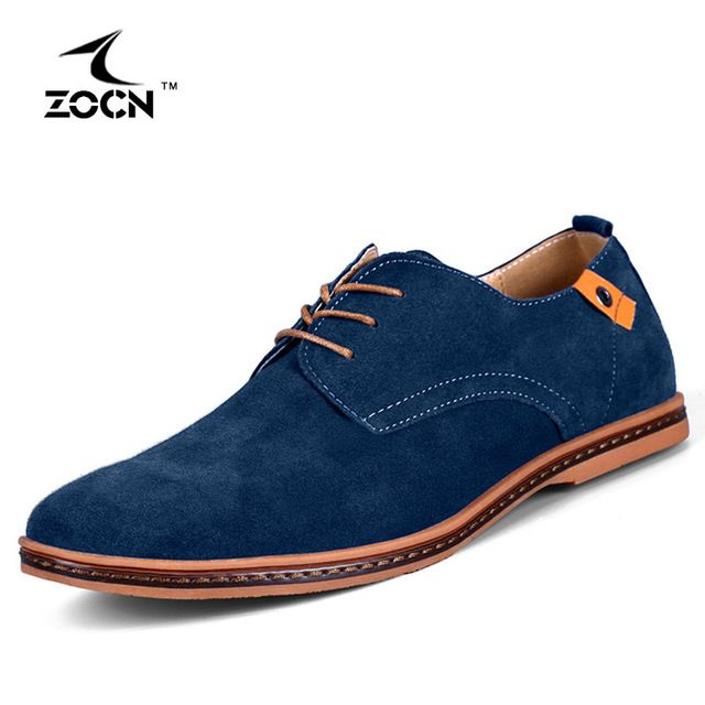 a3235ade ZOCN Tamaño Grande 48 de Los Hombres Zapatos Casuales de Cuero Partido de  la Vaca zapatos